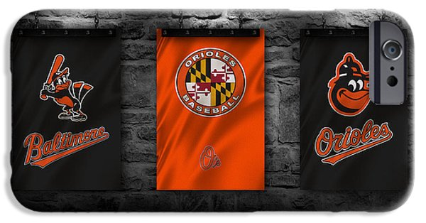 Maryland Barn Photographs iPhone Cases - Baltimore Orioles iPhone Case by Joe Hamilton