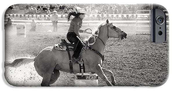 Racing iPhone Cases - Barrel Racing iPhone Case by Maria Jansson