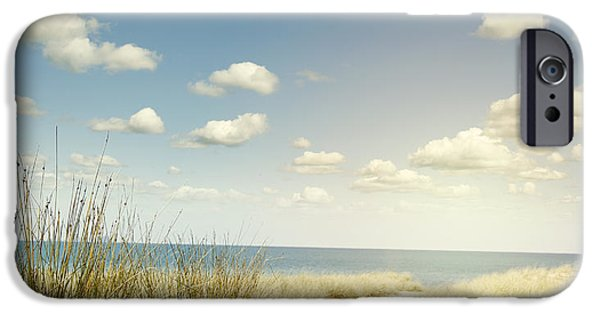 Pathway iPhone Cases - Beach trail iPhone Case by Les Cunliffe