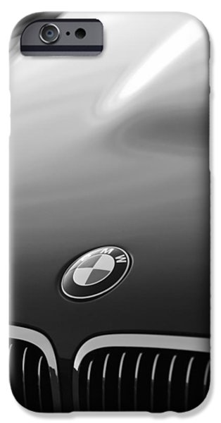 Classic Car Pictures iPhone Cases - BMW Hood Emblem iPhone Case by Jill Reger