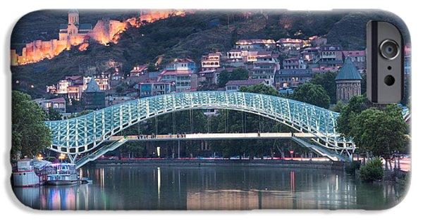 Tbilisi Photographs iPhone Cases - Bridge iPhone Case by Jacek Oleksinski