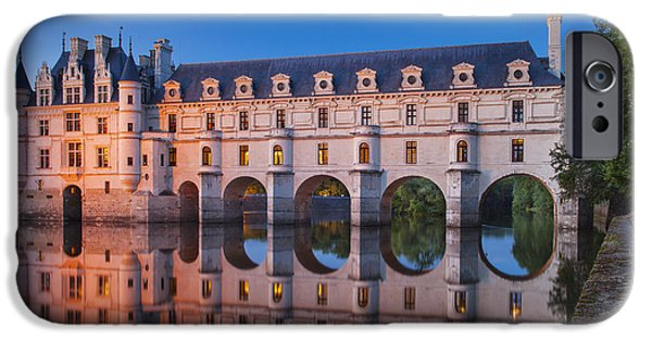 Castle iPhone Cases - Chateau Chenonceau iPhone Case by Brian Jannsen