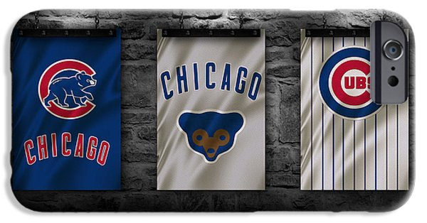World Series iPhone Cases - Chicago Cubs iPhone Case by Joe Hamilton