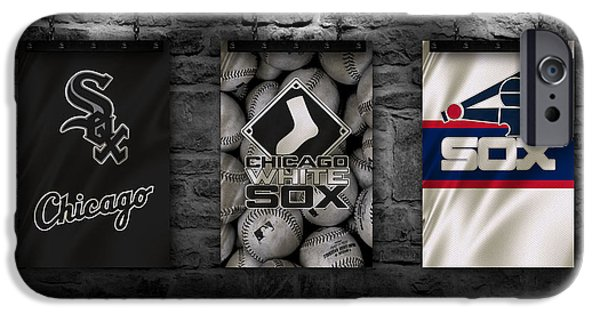 Illinois Barns iPhone Cases - Chicago White Sox iPhone Case by Joe Hamilton