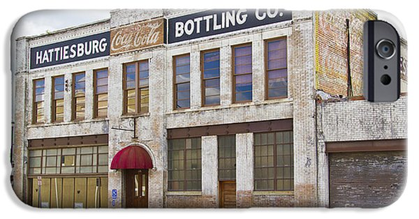 Hattiesburg iPhone Cases - Coca Cola sign on the side of a brick building in Hattiesburg Mi iPhone Case by ELITE IMAGE photography By Chad McDermott