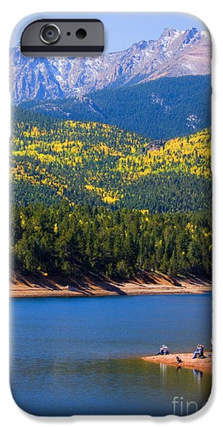 Golden Trout iPhone Cases - Crystal Lake on Pikes Peak iPhone Case by Steve Krull