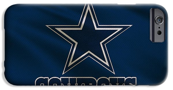 Uniform iPhone Cases - Dallas Cowboys Uniform iPhone Case by Joe Hamilton