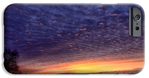 Colorful Cloud Formations iPhone Cases - Dawn of the Day iPhone Case by Thomas R Fletcher