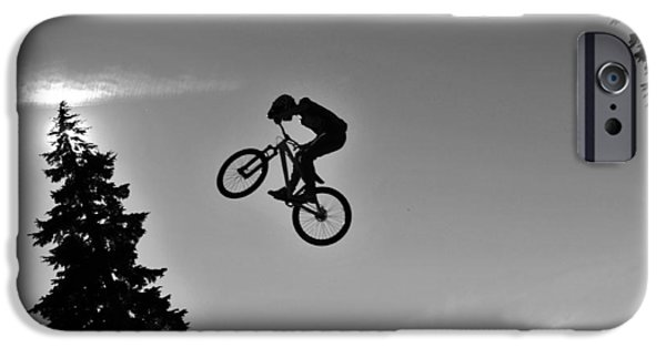 Fat Tire iPhone Cases - Dirt Jumping iPhone Case by Michael Seemann