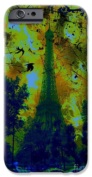 Epic iPhone Cases - Eiffel Tower iPhone Case by Marina McLain