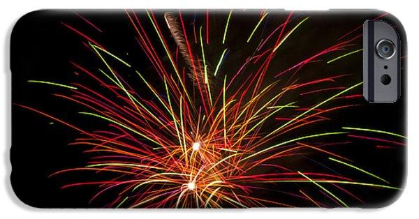 Fireworks iPhone Cases - Fireworks iPhone Case by Mandy Judson