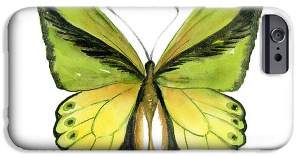 Butterfly iPhone Cases - 8 Goliath Birdwing Butterfly iPhone Case by Amy Kirkpatrick
