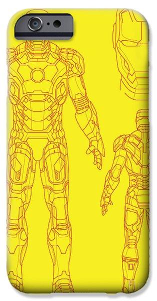 Iron Man iPhone Case by Caio Caldas
