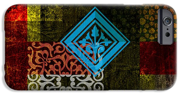 Calligraphy Print iPhone Cases - Islamic Motif 01 iPhone Case by Corporate Art Task Force