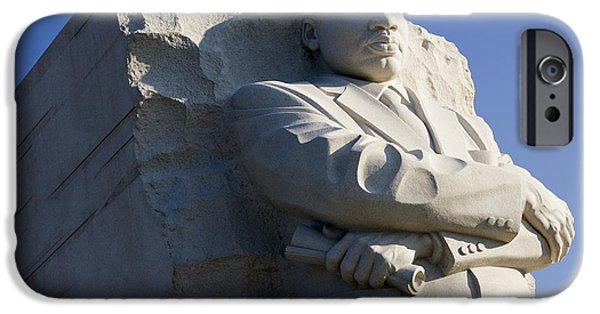 United iPhone Cases - Martin Luther King Jr Memorial iPhone Case by JP Tripp