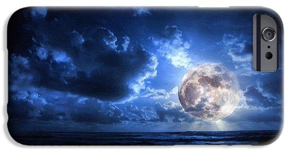 Screen Print iPhone Cases - Moonlight screen Print iPhone Case by Victor Gladkiy