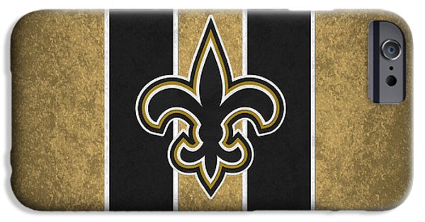 Saint iPhone Cases - New Orleans Saints iPhone Case by Joe Hamilton