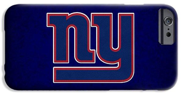 New Goals iPhone Cases - New York Giants iPhone Case by Joe Hamilton