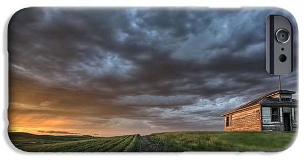Agricultural iPhone Cases - Newly planted crop iPhone Case by Mark Duffy
