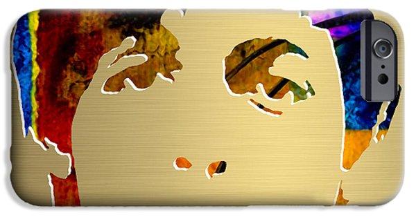 Paul Mccartney iPhone Cases - Paul McCartney Gold Series iPhone Case by Marvin Blaine