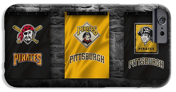 Baseball Uniform iPhone Cases - Pittsburgh Pirates iPhone Case by Joe Hamilton