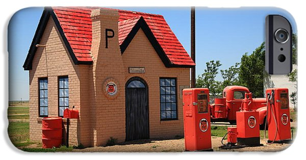 Recently Sold -  - Business Photographs iPhone Cases - Route 66 - Phillips 66 Gas Station iPhone Case by Frank Romeo
