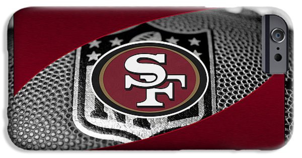 Shoe iPhone Cases - San Francisco 49ers iPhone Case by Joe Hamilton