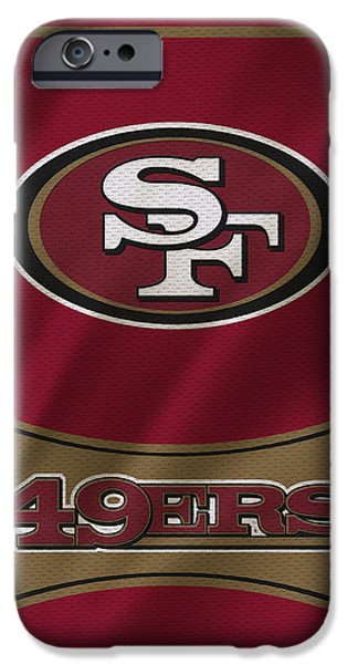 Uniform iPhone Cases - San Francisco 49ers Uniform iPhone Case by Joe Hamilton