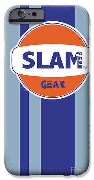 SLAM ONE GEAR iPhone Case by James Eye