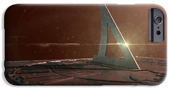 Concept Digital iPhone Cases - Sundial Lost In Time iPhone Case by Allan Swart