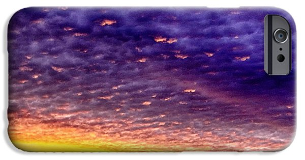 Colorful Cloud Formations iPhone Cases - Sunrise Drama iPhone Case by Thomas R Fletcher