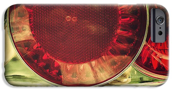 Lens iPhone Cases - Tail lights iPhone Case by Les Cunliffe
