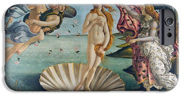 Recently Sold -  - Figures iPhone Cases - The Birth of Venus iPhone Case by Sandro Botticelli