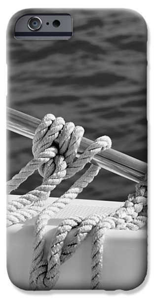 Salt Air iPhone Cases - The Ropes iPhone Case by Laura  Fasulo