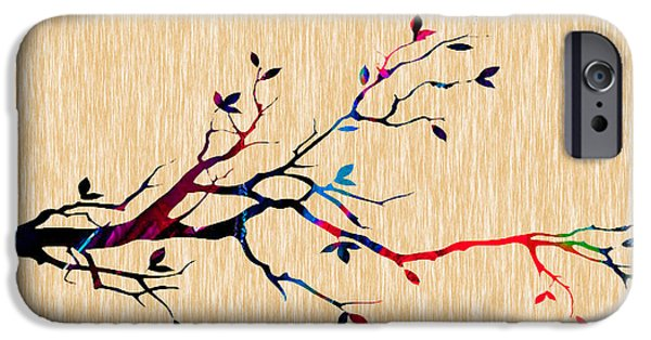Background iPhone Cases - Tree Branch Collection iPhone Case by Marvin Blaine