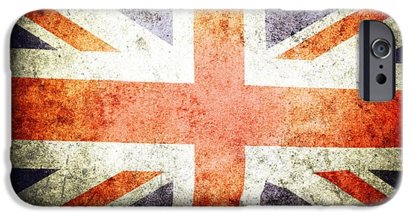Flag Colors iPhone Cases - Union Jack  iPhone Case by Les Cunliffe