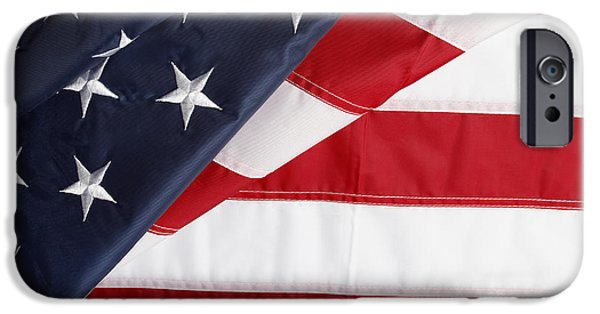 American Flag iPhone Cases - USA flag iPhone Case by Les Cunliffe