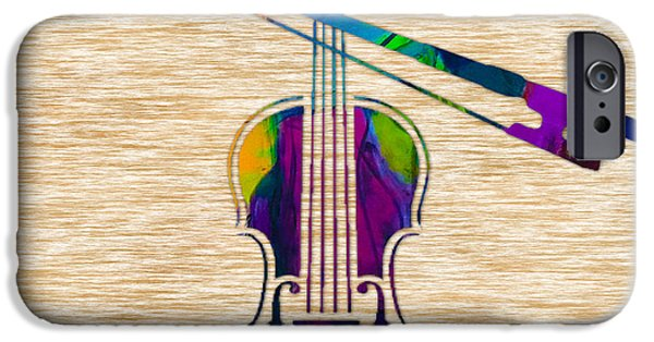 Instrument iPhone Cases - Violin iPhone Case by Marvin Blaine