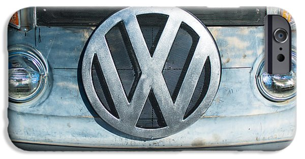 Volkswagen iPhone Cases - Volkswagen VW emblem iPhone Case by Jill Reger