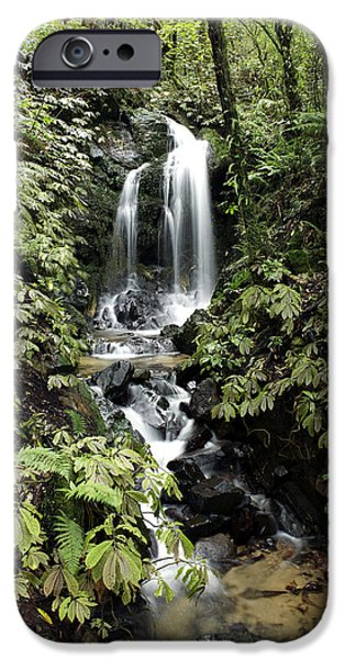 Spring Scenery iPhone Cases - Waterfall iPhone Case by Les Cunliffe
