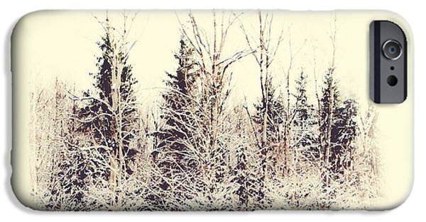 Winter Scene iPhone Cases - Winter Wonderland. Elegant KnickKnacks from JennyRainbow iPhone Case by Jenny Rainbow