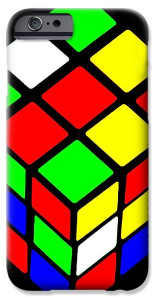 Rubiks Cube iPhone Cases - 80s Icon iPhone Case by Benjamin Yeager
