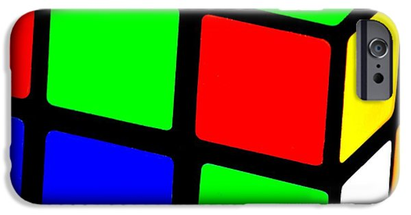 Rubiks Cube iPhone Cases - 80s Memory iPhone Case by Benjamin Yeager