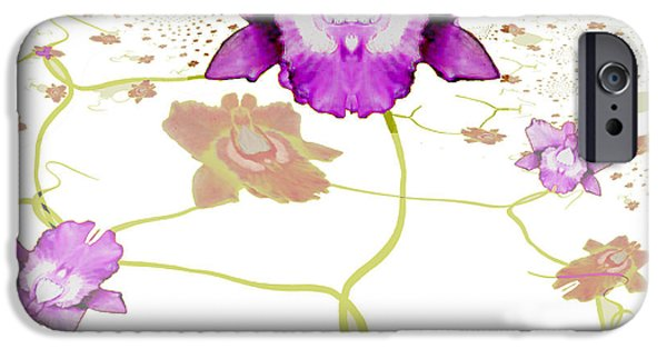 Irmgard iPhone Cases - 846 - Purple Orchid iPhone Case by Irmgard Schoendorf Welch