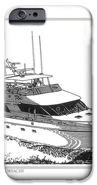 85 foot Custom Nordlund Motoryacht iPhone Case by Jack Pumphrey