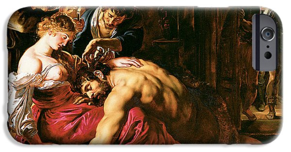 Important Paintings iPhone Cases - Samson and Delilah iPhone Case by Peter Paul Rubens