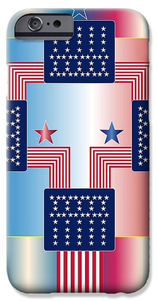American Flag iPhone Cases - 88a-5 iPhone Case by Larry Waitz