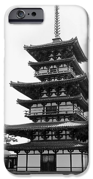 National Treasure iPhone Cases - 8th CENTURY PAGODA -- NARA JAPAN iPhone Case by Daniel Hagerman