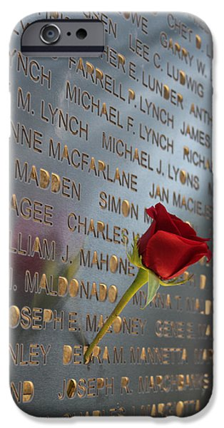 Twin Towers Nyc iPhone Cases - 9-11 Memorial 03 Rocky Point New York iPhone Case by Bob Savage