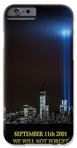 Terrorism iPhone Cases - 9/11 Tribute iPhone Case by Nick Zelinsky